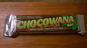 Chocowana Bar, have been at around 350 mg a bar.