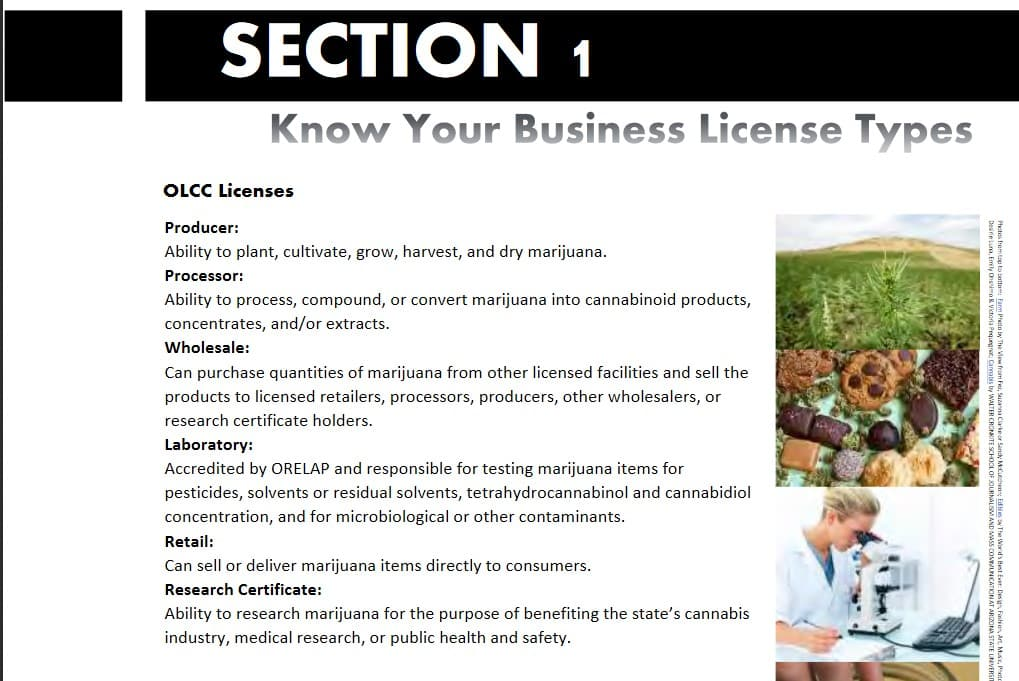 License Types OLCC Guidebook