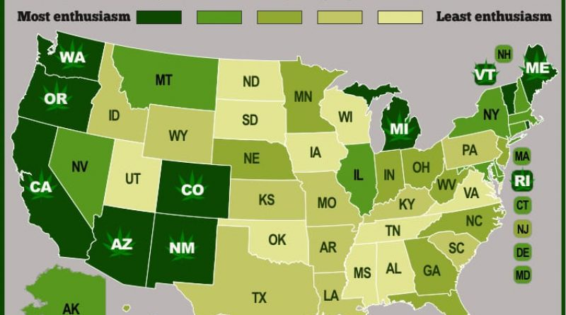 states friendliest to cannabis july 4th infographic oregon cannabis connection. Black Bedroom Furniture Sets. Home Design Ideas