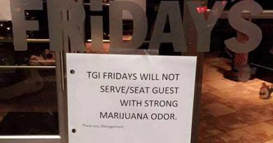 www.Salem-news.com, Maryland, TGI Friday, Marijuana, Odor, Refuse service, Bonnie King