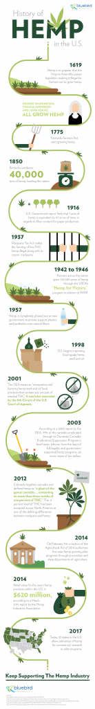 Hemp, History, Infographic, Bluebird, Graphic, Industrial Hemp