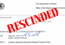 Attorney General Sessions Issues Memo Rescinding the Cole Memo
