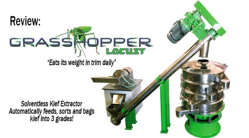 grasshopper extractor, locust, kief machine, kief, Stacy Page, extractor